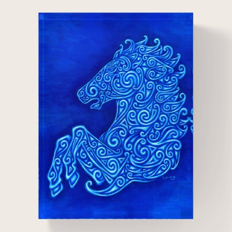 Blue Celtic Horse Paperweight