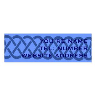 Blue Celtic knot on light blue Business Cards