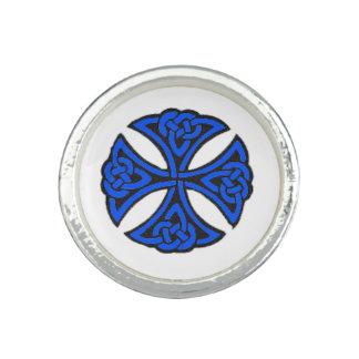 Blue Celtic Knot Rings