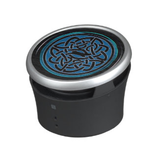 Blue Celtic Knot Portable Bluetooth Speaker