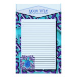 Blue Celtic Knot Turtle Lined Stationery