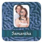Blue Celtic knotwork Square Sticker