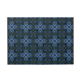 Blue Celtic Medieval Hearts Pattern iPad Cases