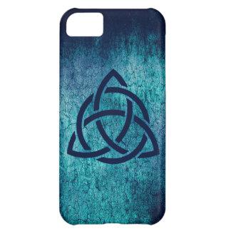 Blue Celtic Triquetra Case For iPhone 5C