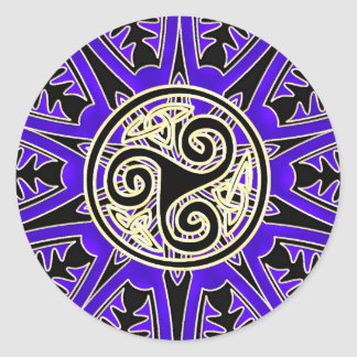 Blue Celtic Triskele Mandala Sticker
