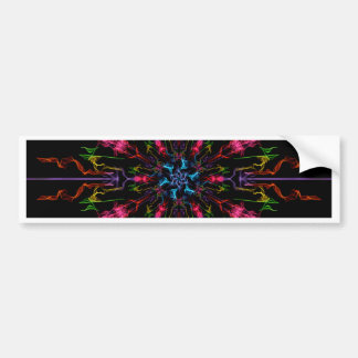 Blue Center Swirl Bumper Sticker