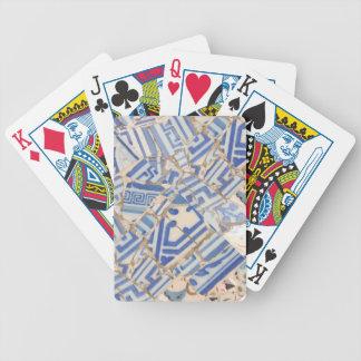 Blue ceramic Playing Card