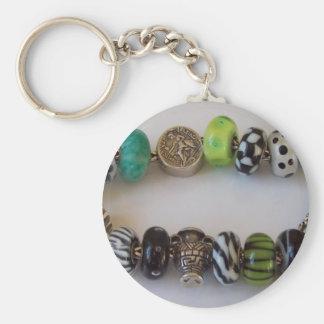 Blue Chain by MelinaWorld Jewellery Basic Round Button Keychain