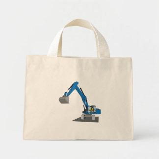 blue chain excavator mini tote bag