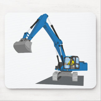 blue chain excavator mouse pad