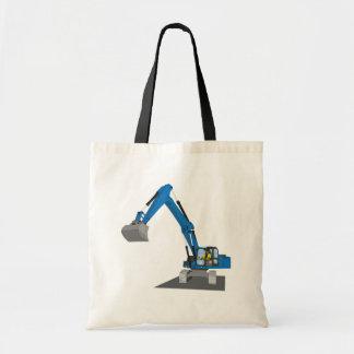 blue chain excavator tote bag