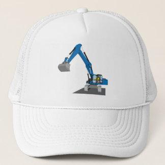 blue chain excavator trucker hat