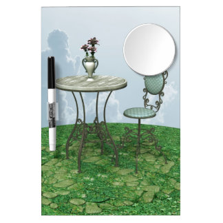 Blue Chair Dry Erase Board With Mirror