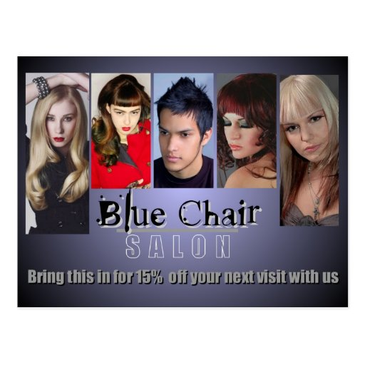 Blue Chair Mailer Postcard
