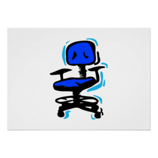 Blue Chair Posters