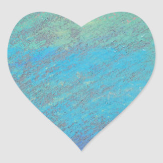 Blue Chalk Art Heart Sticker