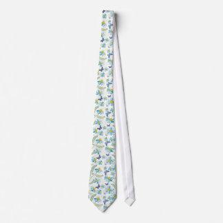Blue Chamomiles Neck Tie