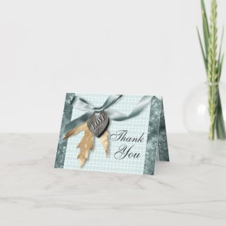 Blue champagne lace country locket greeting cards