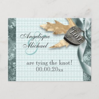 Blue champagne lace country locket post cards