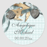 Blue champagne lace country locket sticker