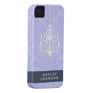 Blue Chandelier Barely There™ iPhone 4/4S Cases