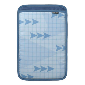 Blue Chart Arrows Sleeves For MacBook Air