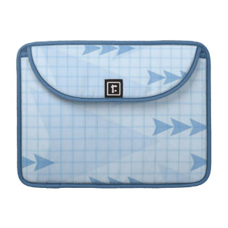 Blue Chart Arrows Sleeves For MacBooks
