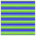 [ Thumbnail: Blue & Chartreuse Lines Pattern Fabric ]