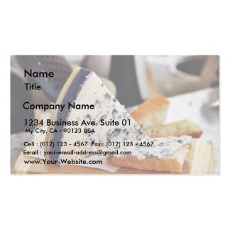 Blue Chcvre Cheese Business Card Template