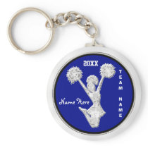 Blue Cheap Cheer Cheerleading Gifts in BULK Keychain