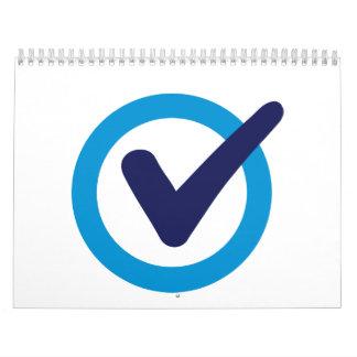 Blue check mark calendar