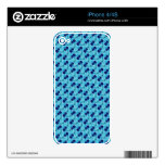 Blue Checker Cellos Skins For iPhone 4S
