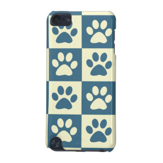 Blue Checker Paw Pern iPod Touch 5G Case