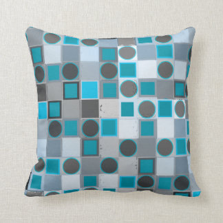 Blue Checker Polka Dots Pillow