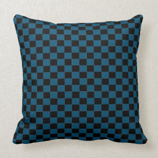 Blue Checker Throw Pillow