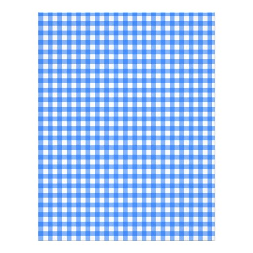 Blue Checkered Cloth Custom Letterhead