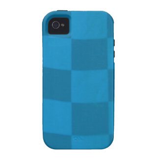blue checkered flag vibe iPhone 4 case