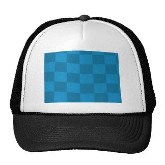 blue checkered flag trucker hat