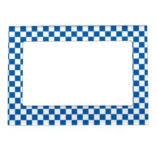 Blue Checkered Magnetic Frame