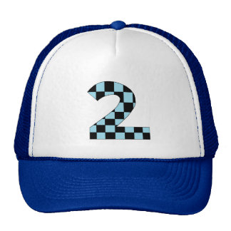 Blue Checkered Number Two Trucker Hat