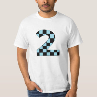 Blue Checkered Number Two T-Shirt