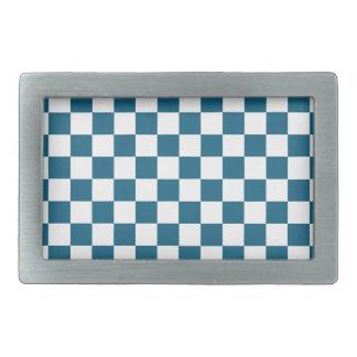 Blue Checkered Pattern Belt Buckles