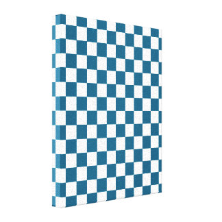 Blue Checkered Pattern Canvas Print