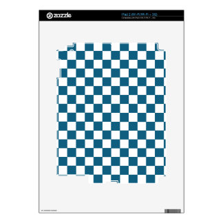 Blue Checkered Pattern Skin For The iPad 2