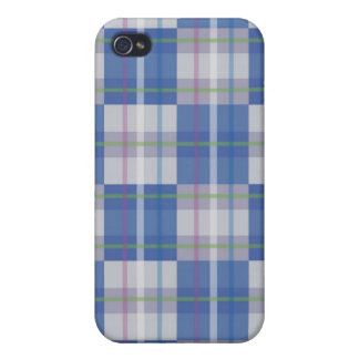 Blue Checkered Print iPhone Case 4 iPhone 4 Case