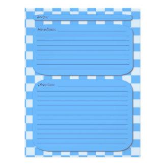 Blue checkered recipe page