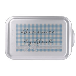 Blue Checkered with bow Cake Pan
