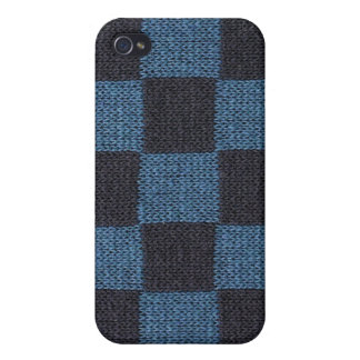 Blue Checkers iPhone 4 Case