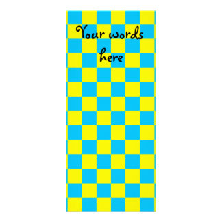 Blue checkers on yellow background customized rack card