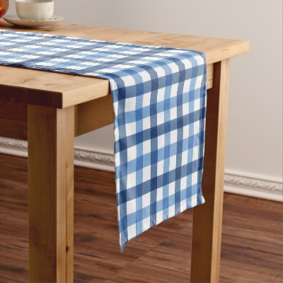 Black And Red Buffalo Check Plaid Short Table Runner | Zazzle.com